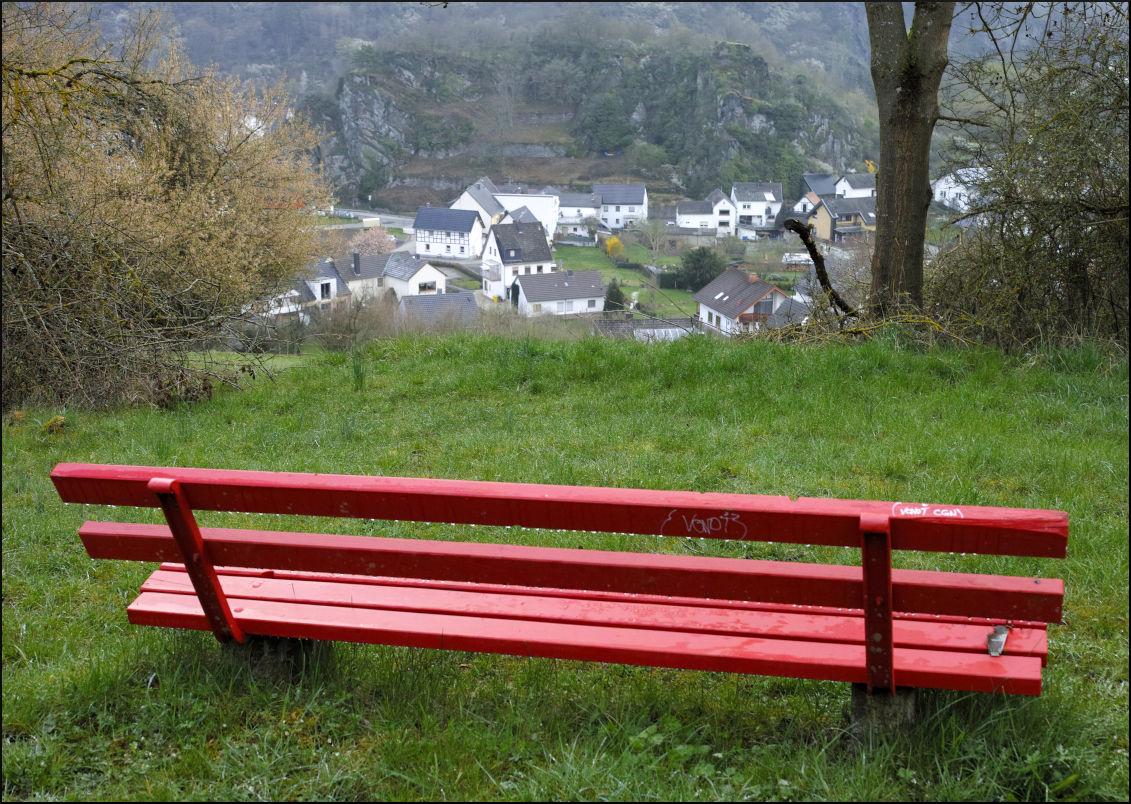 Blick von der roten Bank.